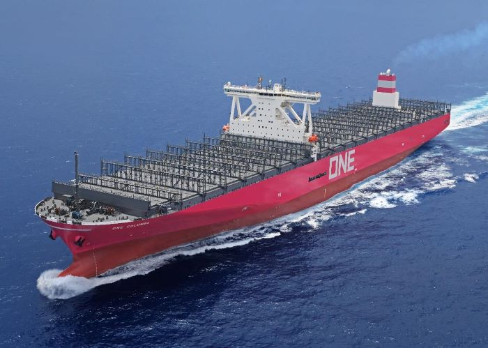 ONE Columbia. Picture: ONE, featured in Africa PORTS & SHIPS maritime news