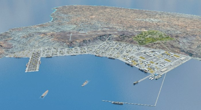 An optimistic view of the proposed completed logistic base at Pemba, featured in Africa PORTS & SHIPS maritime news