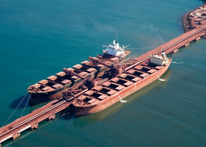 Saldanha TPT Iron Ore Terminal berths, featured in Africa PORTS & SHIPS maritime news