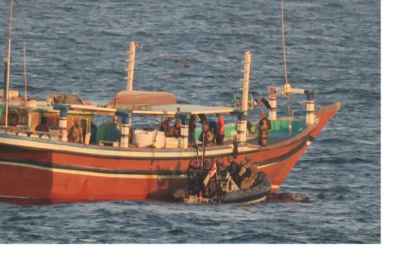 The intercepted dhow, featured in Africa PORTS & SHIPS maritime news