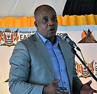 Phumulo Masualle, E Cape premier, appearing in Africa PORTS & SHIPS maritime news
