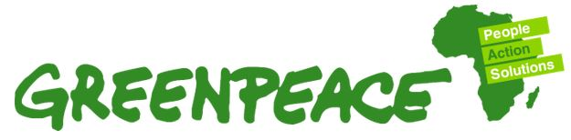 Greenpeace logo, appearing in Africa PORTS & SHIPS maritime news