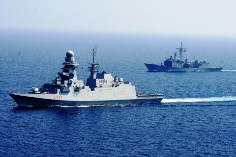 EU NAVFOR naval ships on patrol off the Horn of Africa, featured in Africa PORTS & SHIPS maritime news