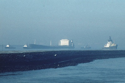 Getafic arriving Rotterdam under tow 1979, feeatured in Africa PORTS & SHIPS maritime news