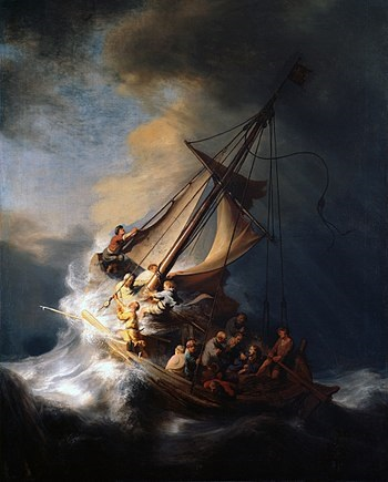 The Storm on the Sea of Galilee is a painting from 1633 by the Dutch Golden Age painter Rembrandt van Rijn, featured in Africa PORTS & SHIPS maritime news