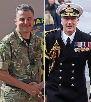 Vice Admiral Timothy Fraser CB (left) and Vice Admiral Tony Radakin CB, appearing in Africa PORTS & SHIPS maritime news