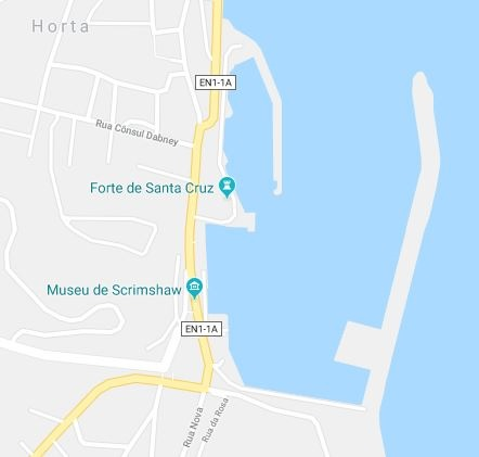 The Port of Horta on the island Faial in the Portuguese Azores of the North Atlantic, featured in Africa PORTS & SHIPS maritime news