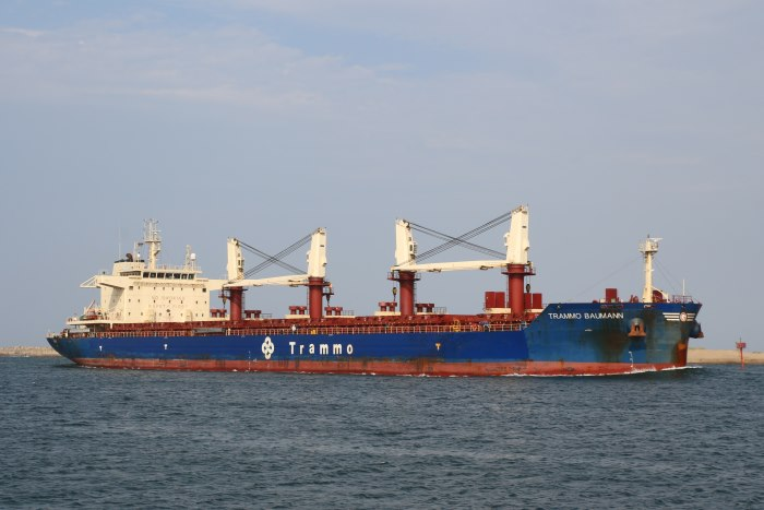 Trammo Baumann. Picture: Keith Betts, appearing in Africa PORTS & SHIPS maritime news