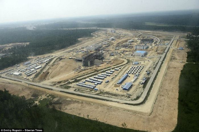 The vast Vostochny Spaceport near the Russian border with China, opicture by Dmitry Rogozin/Siberian Times