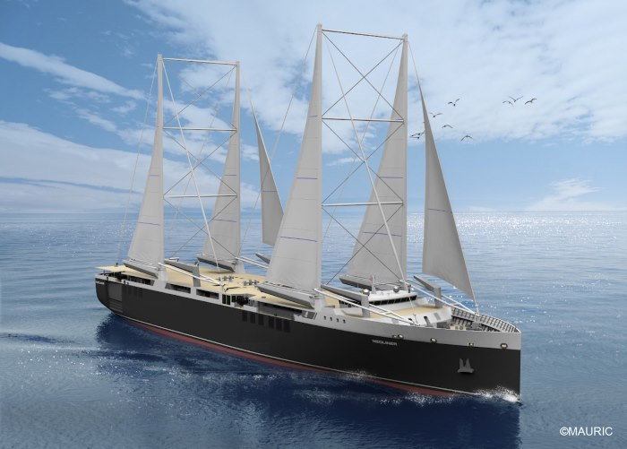 Renault cargo sailing ships, appearing in Africa PORTS & SHIPS maritime news