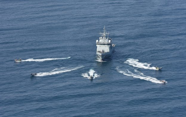 Somaliland Coast Guard patrol craft exercise with the Spanish naval ship, featured in Africa PORTS & SHIPS