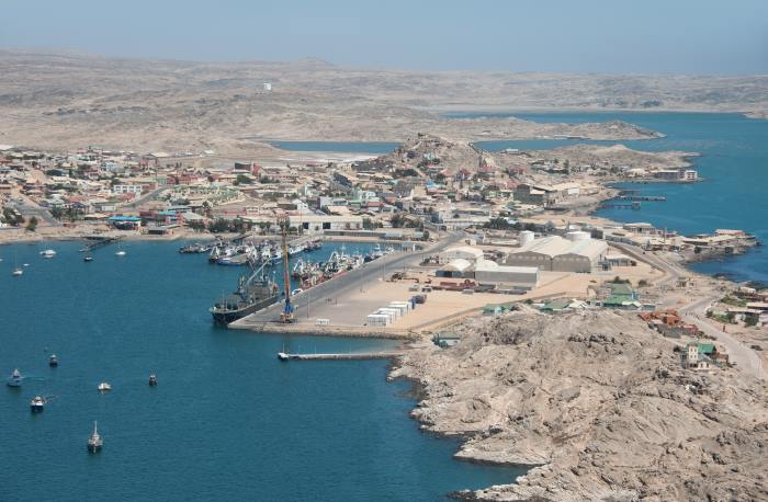 Port and town of Lüderitz, featured in a story carried in Africa PORTS & SHIPS