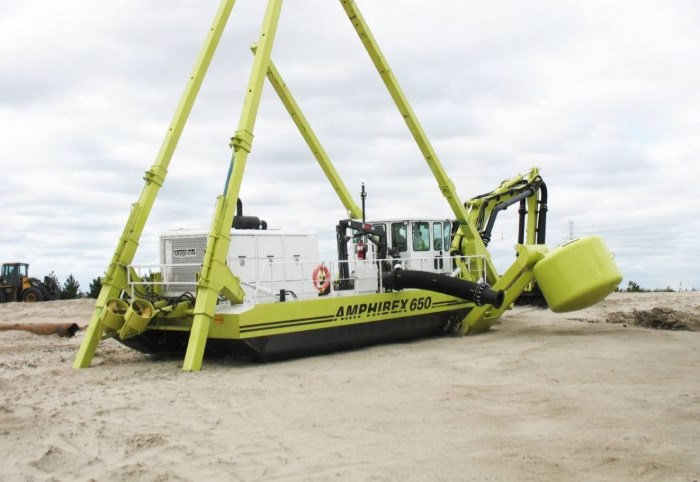 Amphibex amphibious dredger which is being deployed in Nigeria. Picture: NormRock, featured in Africa PORTS & SHIPS