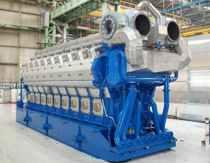 Wärtsilä gas-fuelled marine engine, featured in Africa PORTS & SHIPS