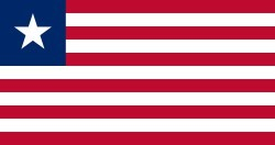 Flag of Liberia, courtesy Wikipedia Commons, featured in Africa PORTS & SHIPS