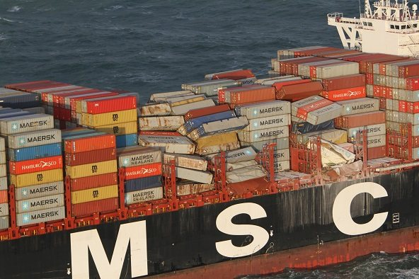 Pictures of MSC Zoe courtesy: Netherlands Coastguard, featured in Africa PORTS & SHIPS