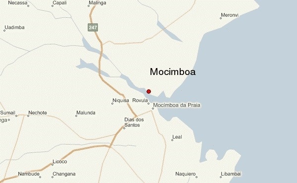 map of Mocimboa da Praia, featured in Africa PORTS & SHIPS