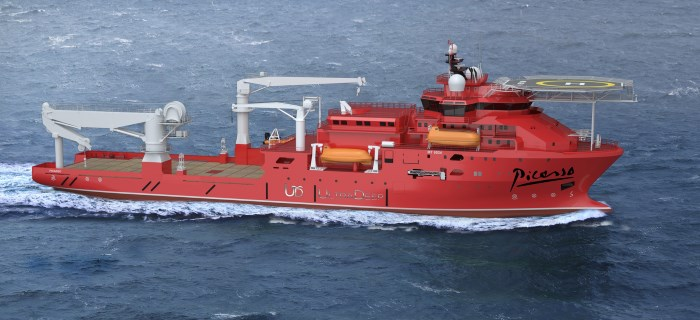 Ultra Deep support and construction vessel Picasso, featured in Africa PORTS & SHIPS