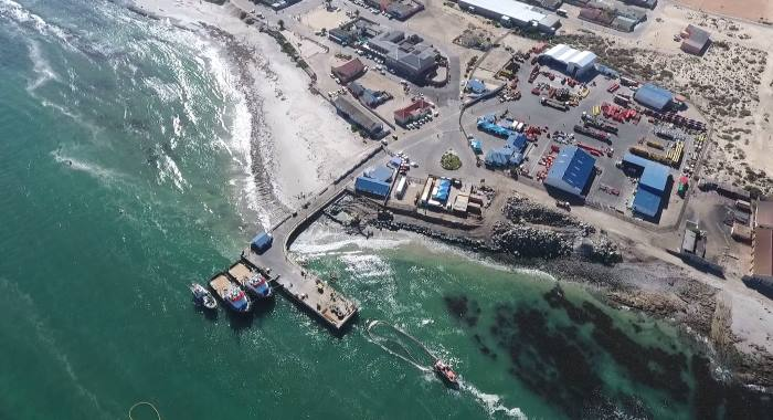 Aerial view of Port Nolloth, November 2017.  Picture: TNPA, featured in Africa PORTS & SHIPS maritime news