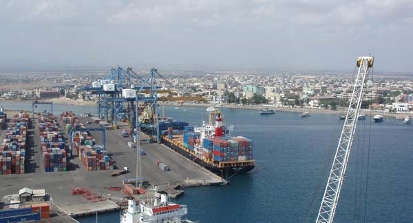 Aerial view of Port Sudan container terminal, image by CHEC, featured in Africa PORTS & SHIPS