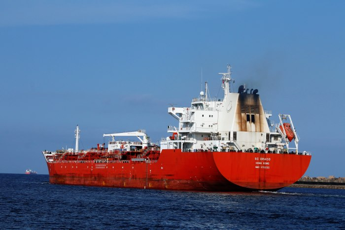 SC Draco sailing from Durban, Picture by Keith Betts, appearing in Africa PORTS & SHIPS