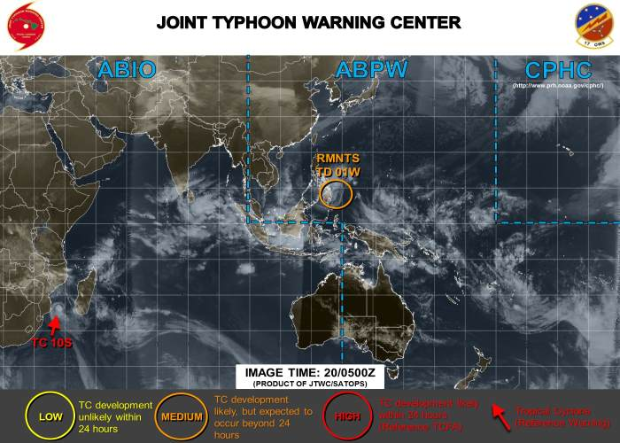 TC10S Source Joint Typhoon Warning Centre