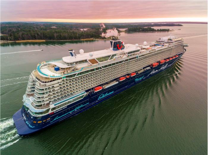 New Mein Schiff 2. Picture: courtesy Meyer Turku, featured in Africa PORTS & SHIPS