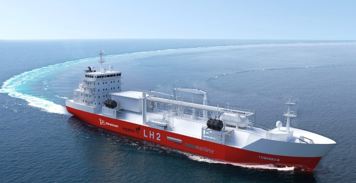 New design liquefied hydrogen bunker vessel, featured in Africa PORTS & SHIPS