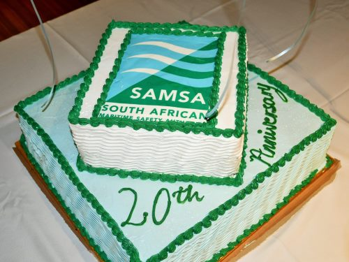 SAMSA 20th birthday cake, featured in Africa PORTS & SHIPS