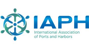 IAPH banner, appearing in Africa PORTS & SHIPS