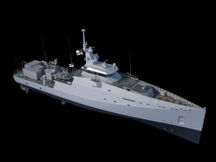 General appearance of the new patrol vessels for the SA Navy, featured in Africa PORTS & SHIPS