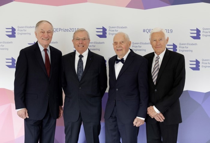 The Queen Elizabeth Prize for Engineering: The creators of GPS awarded The Queen Elizabeth Prize for Engineering, from left to right: Richard Schwartz, Bradford Parkinson, James Spilker and Hugo Fruehauf, featuring in Africa PORTS & SHIPS