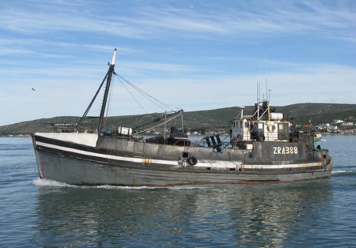 Ankoveld, which sank on Saturday 16 February 2019 off Saldanha Bay. Picture: Jaco Louw, featured in Africa PORTS & SHIPS