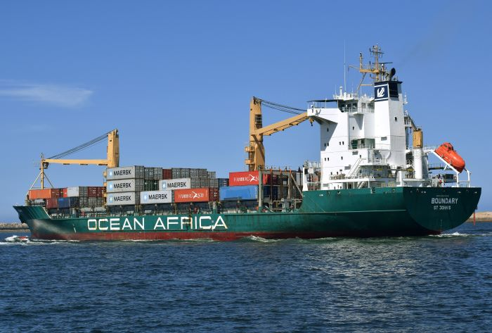 Boundary sailing from Durban. Picture: Trevor Jones, featured in Africa PORTS & SHIPS