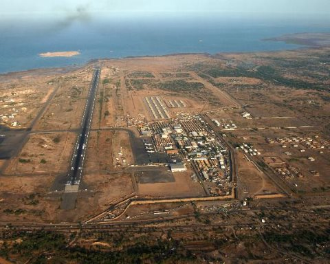 The US military base at Camp Lemonnier in Djibouti, featured in Africa PORTS & SHIPS