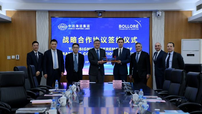Cosco Shipping and Bollore Transport & Logisticshave signed a MoU