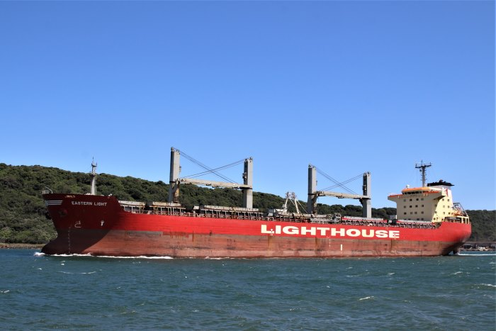 Eastern Light in Durban, picture by Keith betts, featured in Africa PORTS & SHIPS