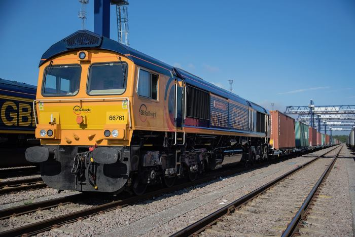 GB Railfreight's latest loco, featured with article in Africa PORTS & SHIPS