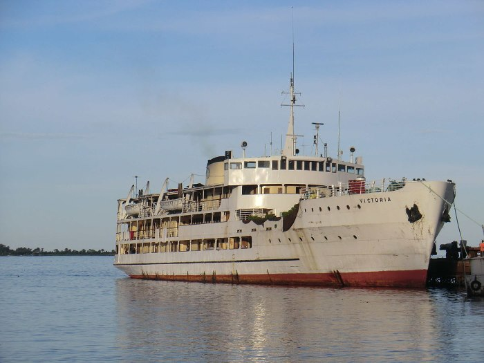 Victoria, one of the best-known large ships including standard ferries in service with the respective countries sharing Lake Victoria, featuring in a report in Africa PORTS & SHIPS