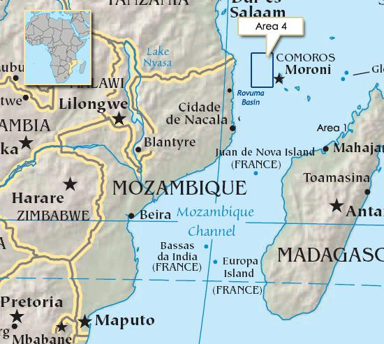 Rovuma Basin in Northern Mozambique where ENI says it will commence LNG exports from late 2022, featured in Africa PORTS & SHIPS