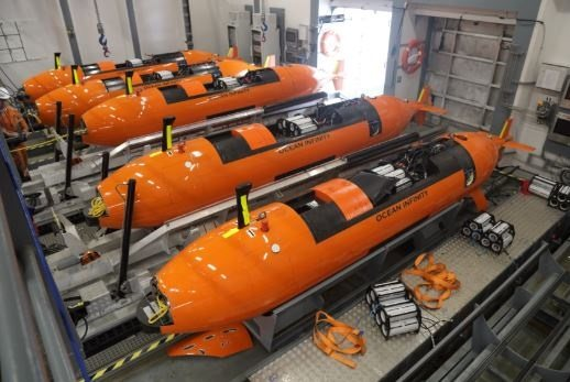 The AUVs emloyed to find the missing Stellar Daisy, featuring in Africa PORTS & SHIPS