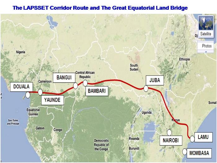 Long term Great Equatorial Land Bridge, featured in Africa PORTS & SHIPS