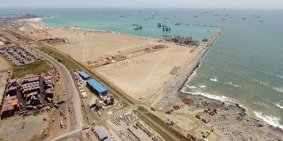 Expansion underway for the new Tema container terminal, featured in Africa PORTS & SHIPS