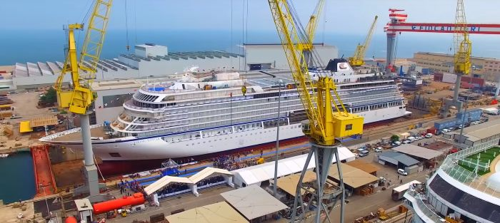 Viking Jupiter nearing completion at Fincantieir, Ancona, featured in Africa PORTS & SHIPS