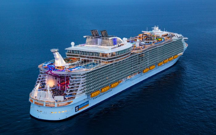RCL's Symphony of the Seas, featured in Africa PORTS & SHIPS