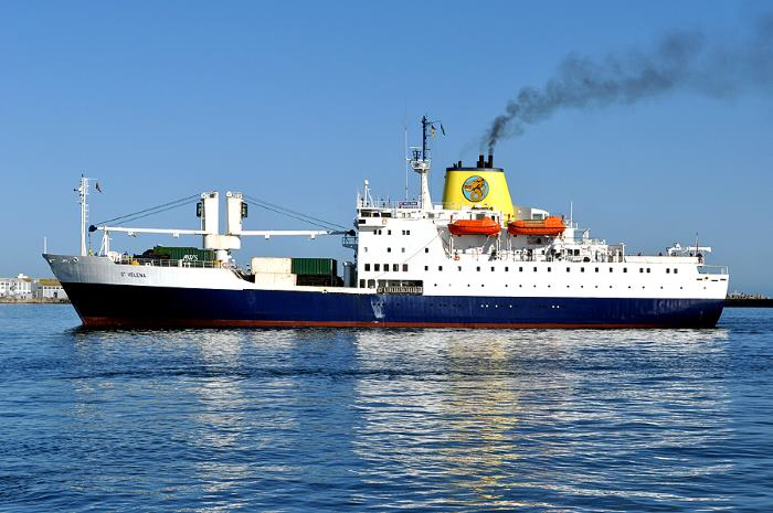 RMS St Helena in her heyday at Cape Town, featured in Africa PORTS & SHIPS. Picture by Ian Shiffman