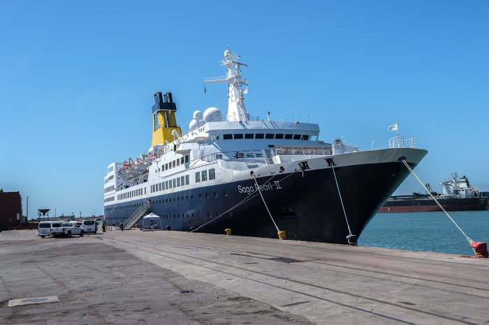 Saga Pearl II on her berth at Port Elizabeth. Picture: TNPA