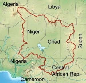 map showing location of Lake Chad. Map: Wikipedia Commons, featured in Africa PORTS & SHIPS mritime news