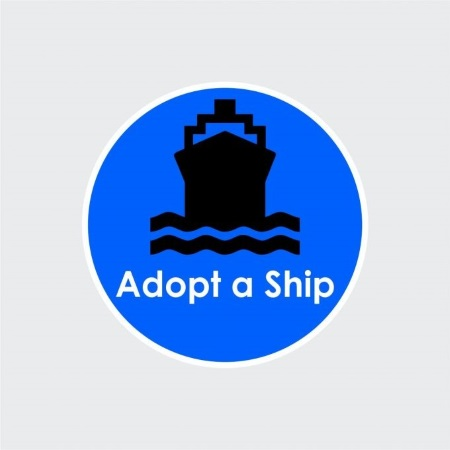 Adopt a Ship logo, appearing i Africa PORTS & SHIPS maritime news