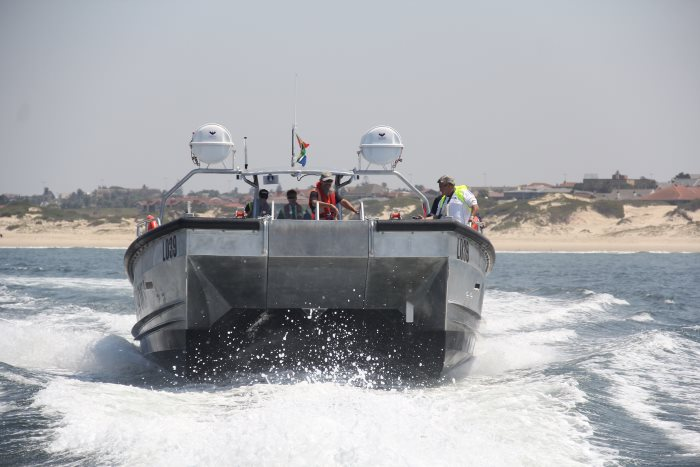 Sea trials take place outside the harbour of Ngqura, featured in Africa PORTS & SHIPS